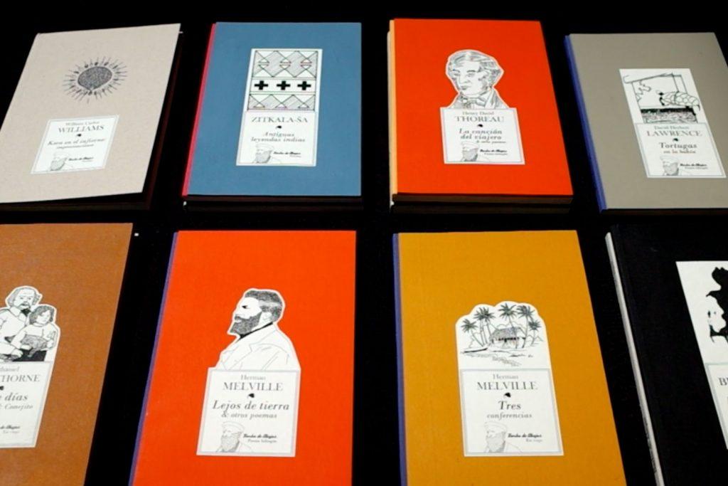 Parte del catálogo de editorial BArba de Abejas. Libros hechos a mano, traducidos, editados y encuadernados por el creador argentino Schierloh.